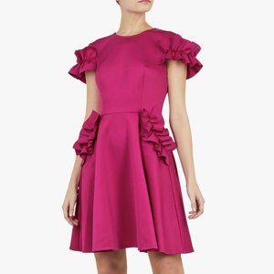 Ted Baker Luuciee Ruffled Pink Mini A-Line Dress
